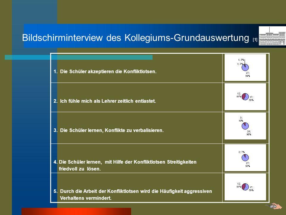 Bildschirminterview des Kollegiums-Grundauswertung [1]
